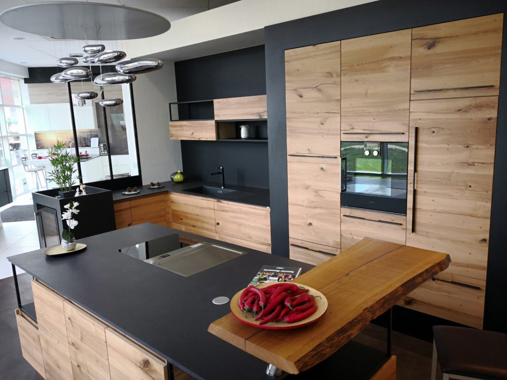 nouveaut s cuisine style loft 2018 vitrine 2k cuisines concepteur poseur. Black Bedroom Furniture Sets. Home Design Ideas